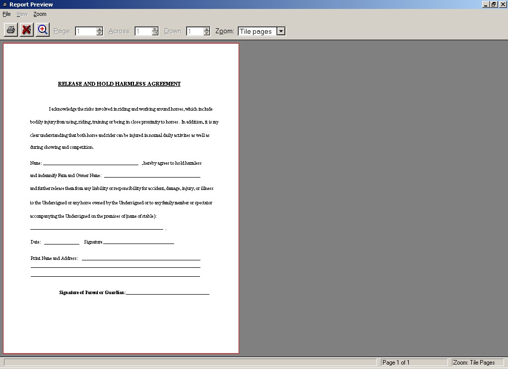 Hold Harmless Agreement Sample Hold Harmless Agreement For Real – Hold Harmless Agreement Template